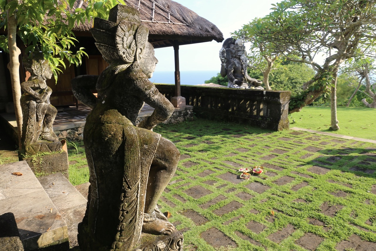 The 5 star resort's Balinese temple.