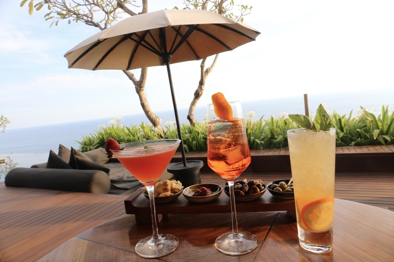 Sip Italian cocktails at the bar before sunset.