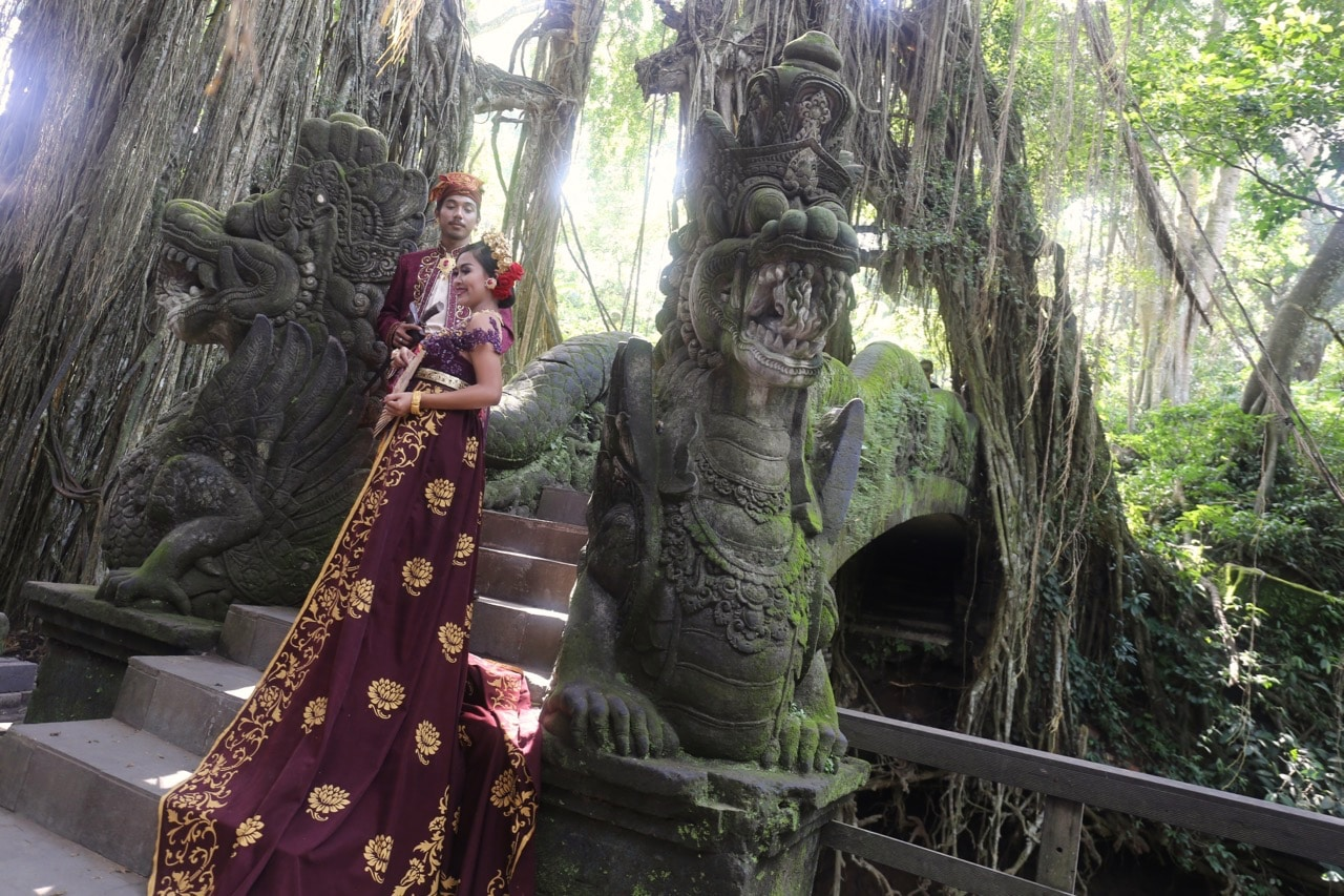 Visit the famous Monkey Temple in Ubud from a luxury Bali resort.