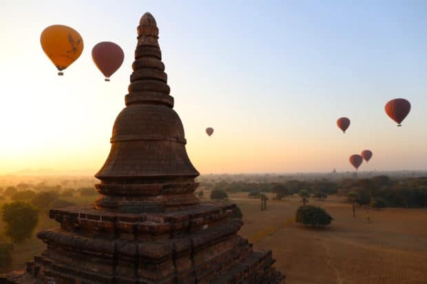 Biking Through the Ancient Temples of Bagan
