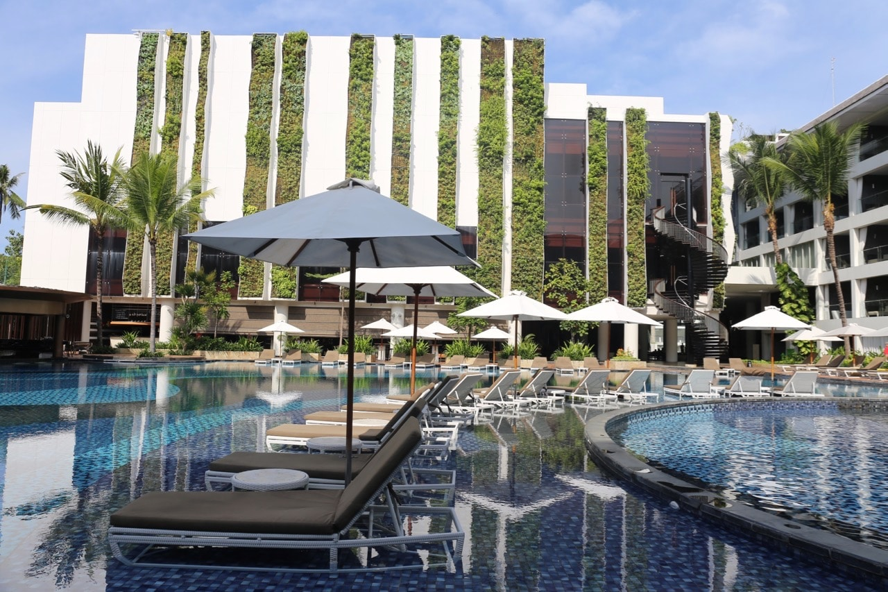 Bali Resorts: The Stones Hotel Legian Hotel pool in Kuta.
