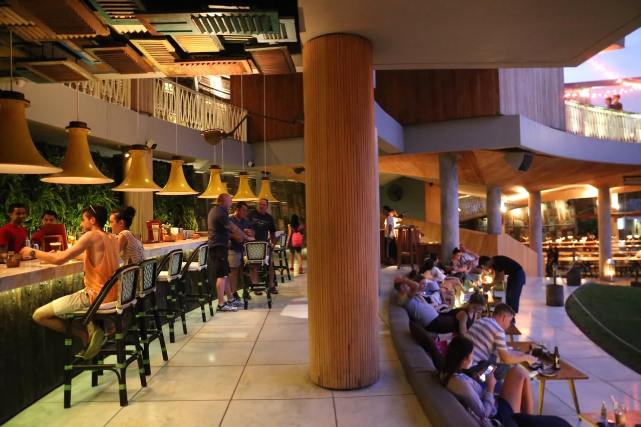 Design fans enjoy late night parties at Potato Head Beach Club and Katamama.