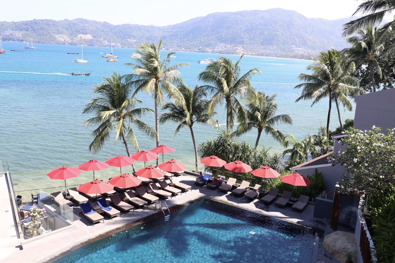 An ocean view overlooking the Amari Phuket pool.