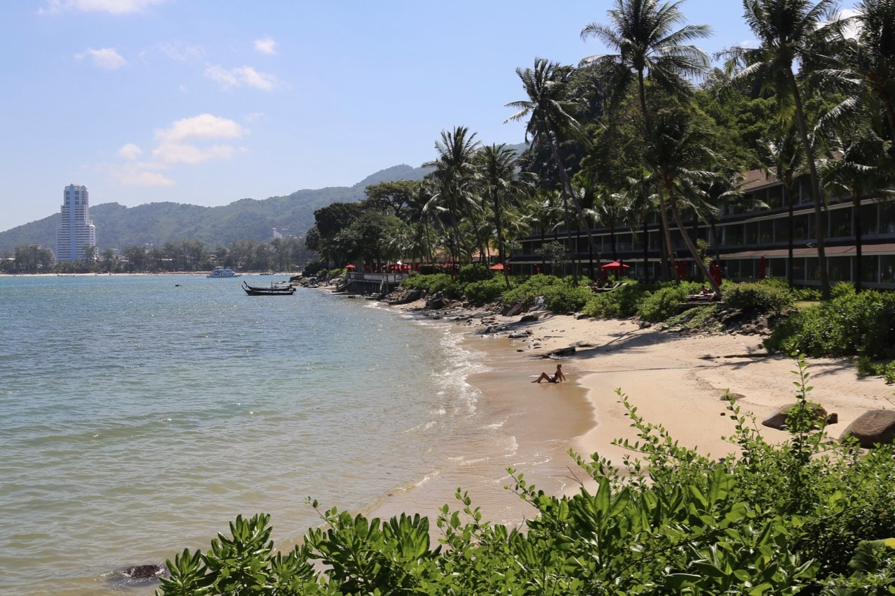 Private beach at Amari Phuket Resort.