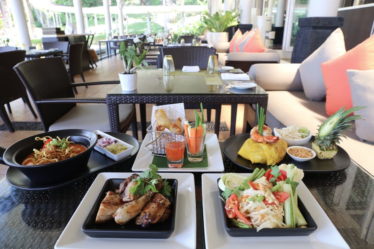 Feast on traditional Thai dishes at Rim Talay Restaurant.