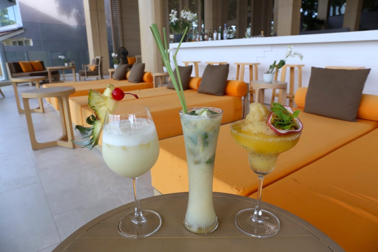 Sip Thai tropical cocktails at Samutr Bar.