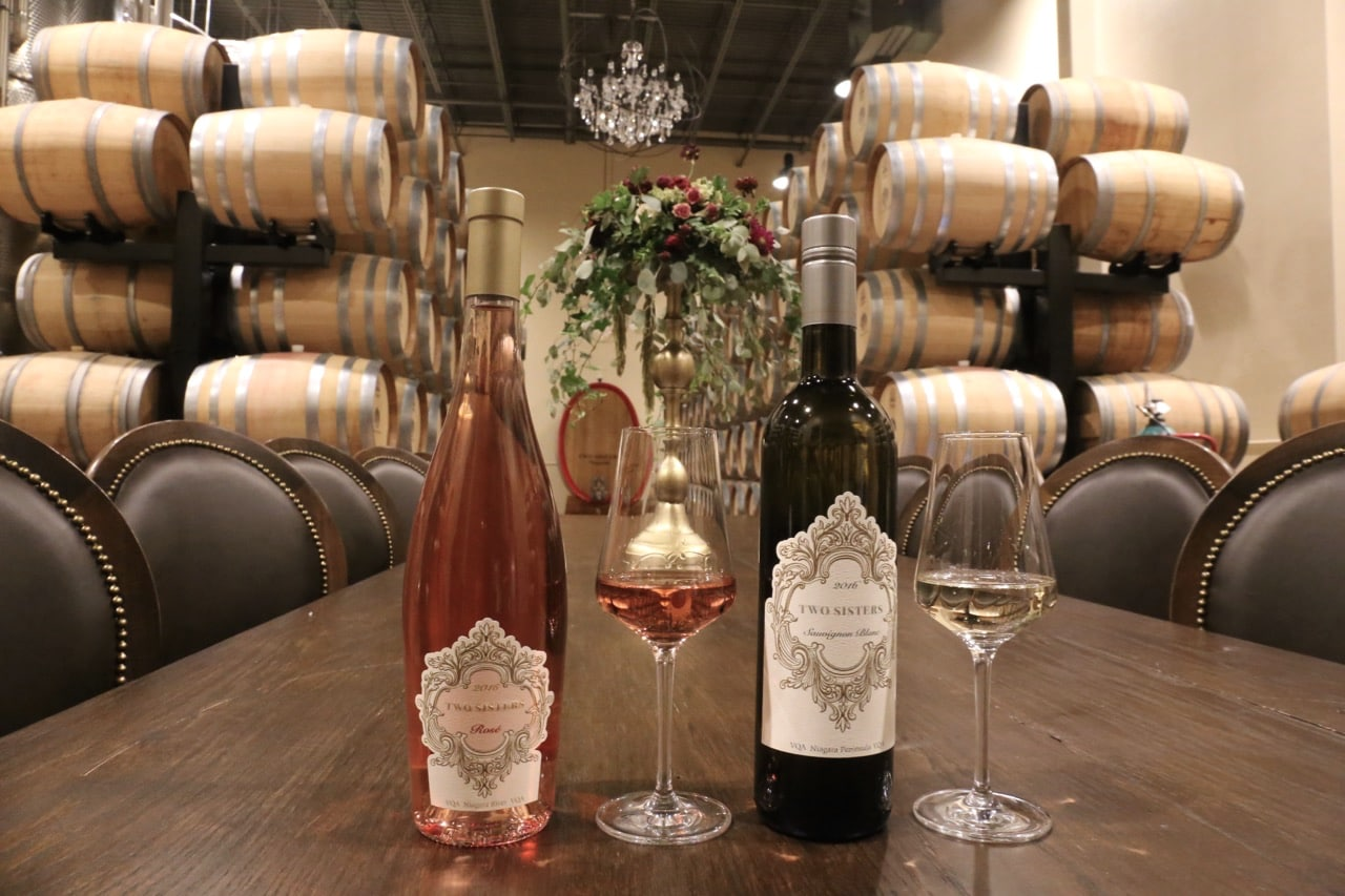 Two Sisters Vineyards offers tours, tastings and Italian restaurant.