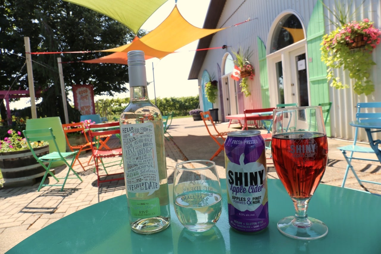 Small Talk Vineyards sells a unique wine muddled hard cider.