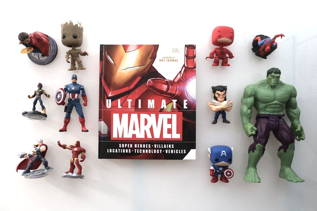 A collection of Marvel Toys From Fan Expo 2017
