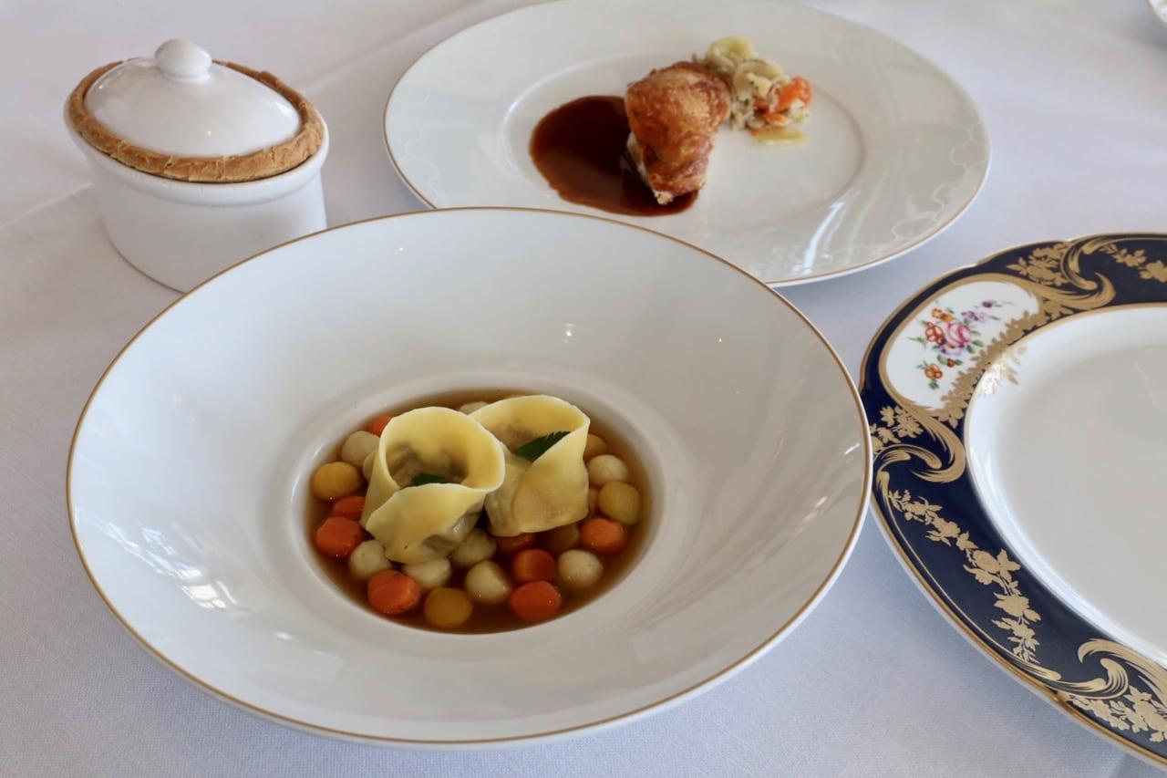 French dinner at Ritzcoffier Restaurant.