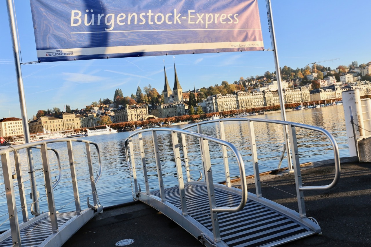 Hop on the Burgenstock Express and enjoy a cruise to the luxury resort.