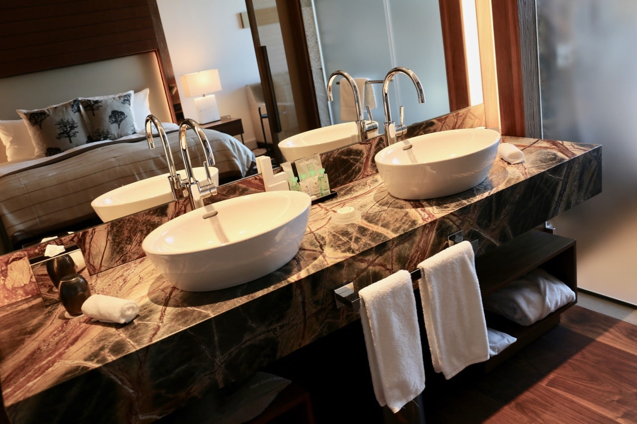 Burgenstock Resort guests enjoy bath amenities by Bulgari.