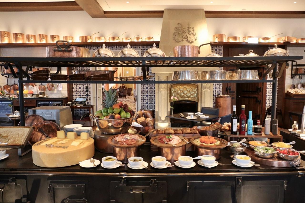 Breakfast buffet at Burgenstock Resort.
