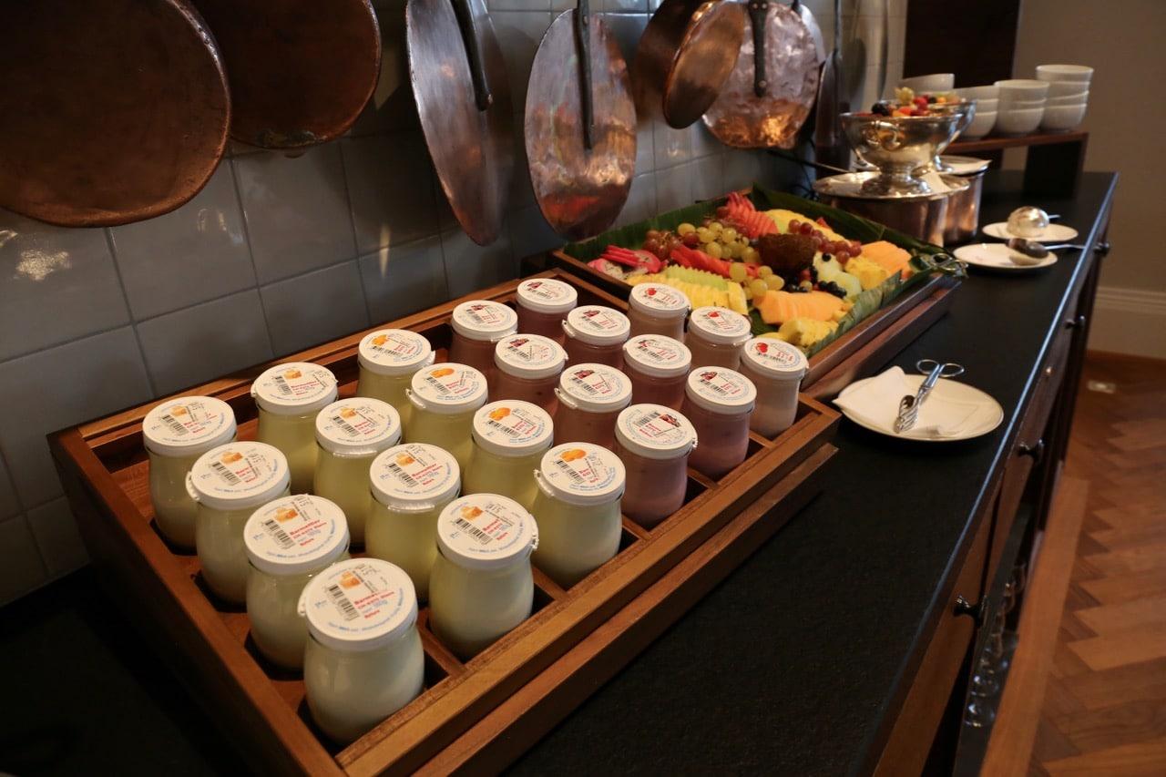 Yogurt is a popular Swiss Food enjoyed at breakfast.