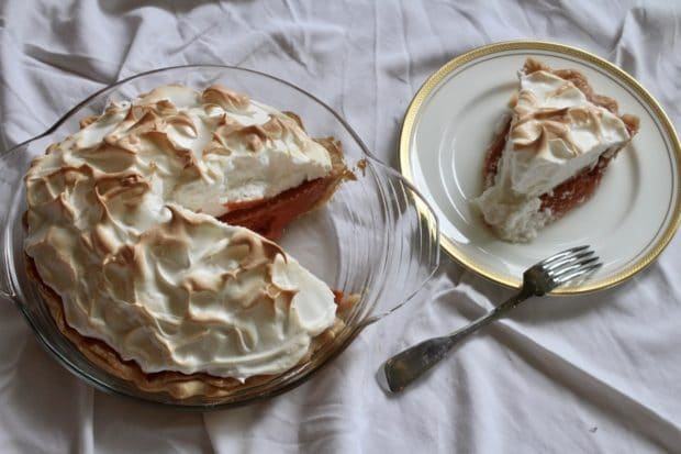 Cranberry Rhubarb Meringue Pie