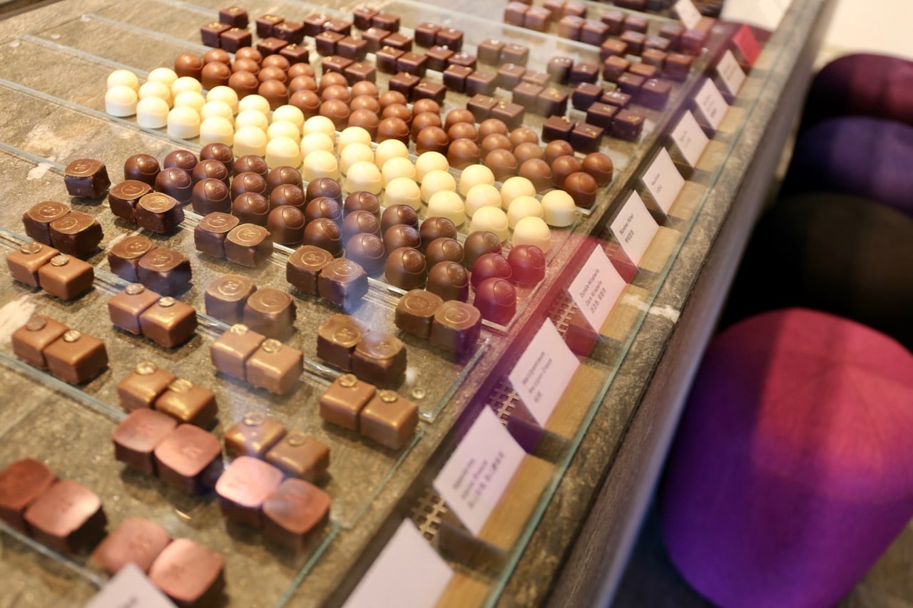 Chocolate Shops in Switzerland: Max Chocolatier in Lucerne.