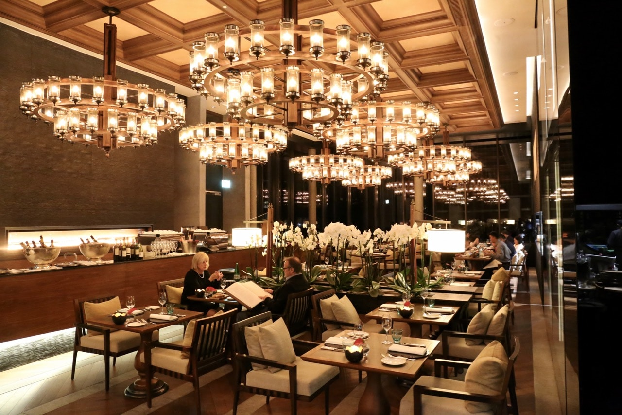 "Chedi Andermatt's ""The Restaurant"" dining room."