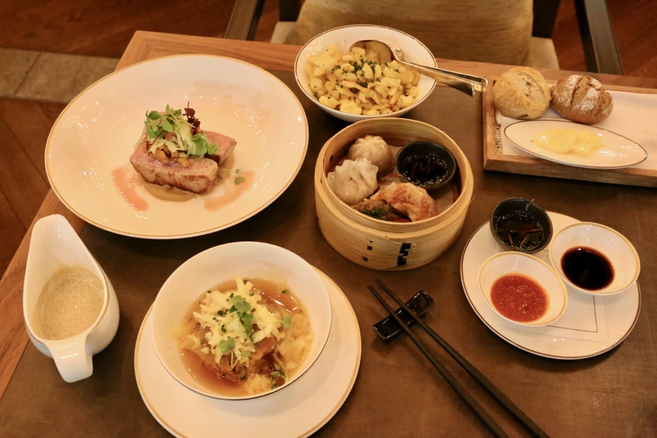 Asian and Swiss dishes are serves side by side at The Restaurant.