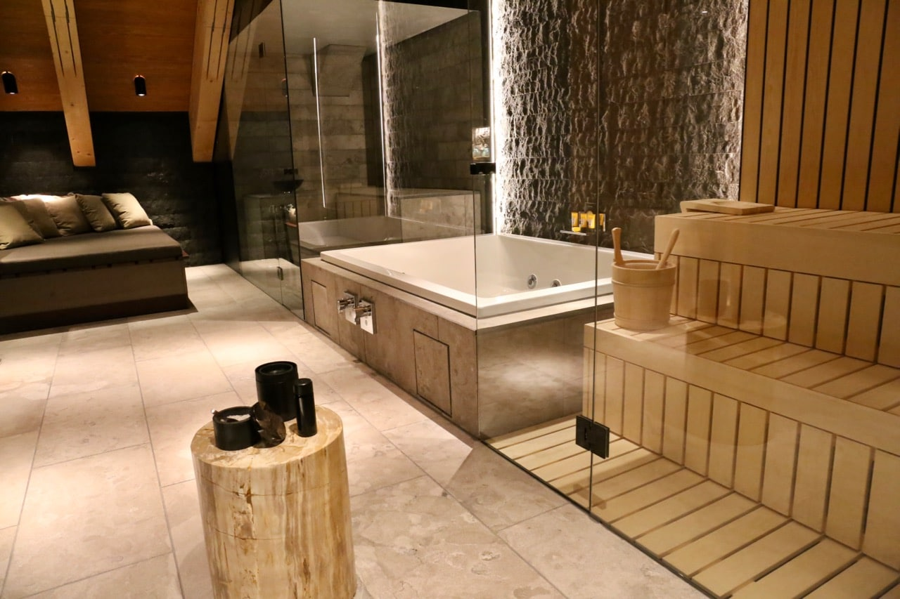 Some Chedi Andermatt suites feature private sauna and steam room.