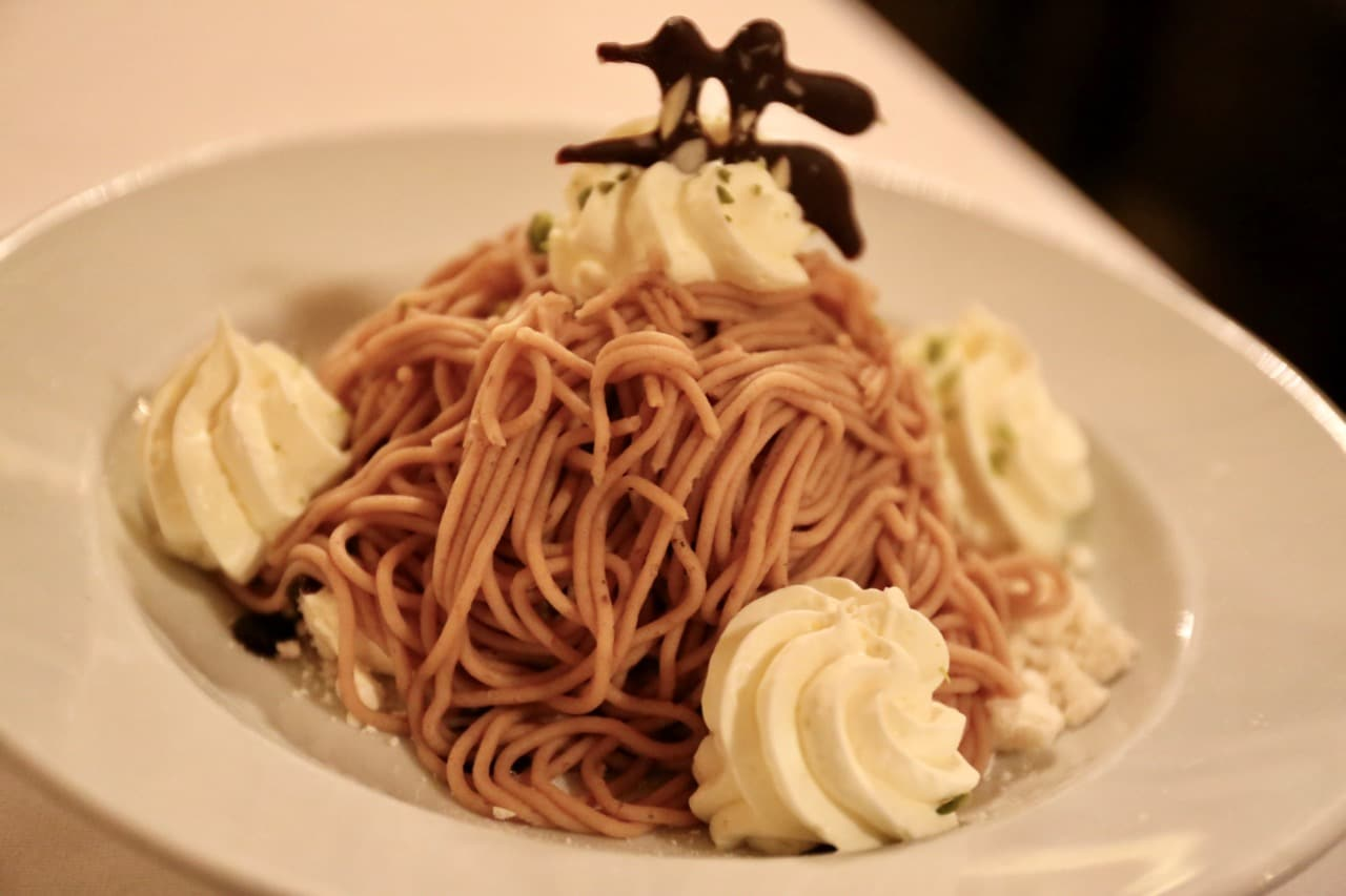 Chestnut Vermicelli is a popular dessert enjoyed in the winter.
