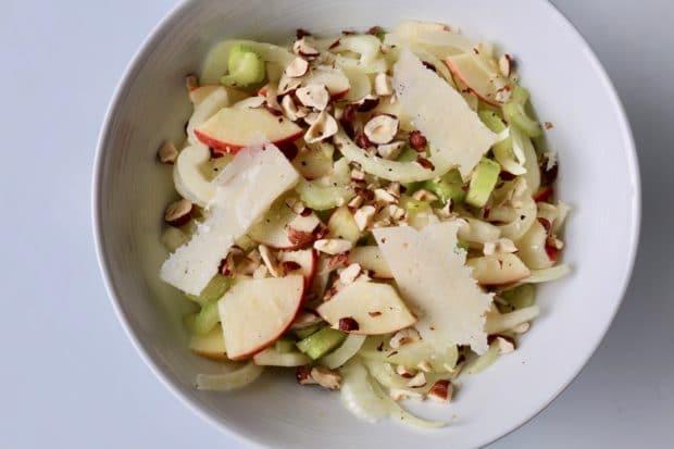 Fennel, Apple, Celery and Roasted Hazelnut Salad