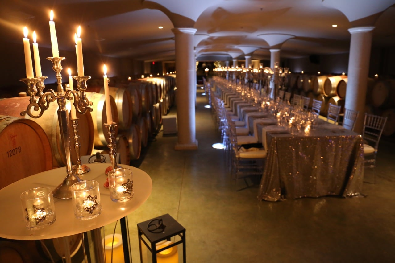 Peller Estates hosts an annual dinner in its cellar during the Niagara Icewine Festival.