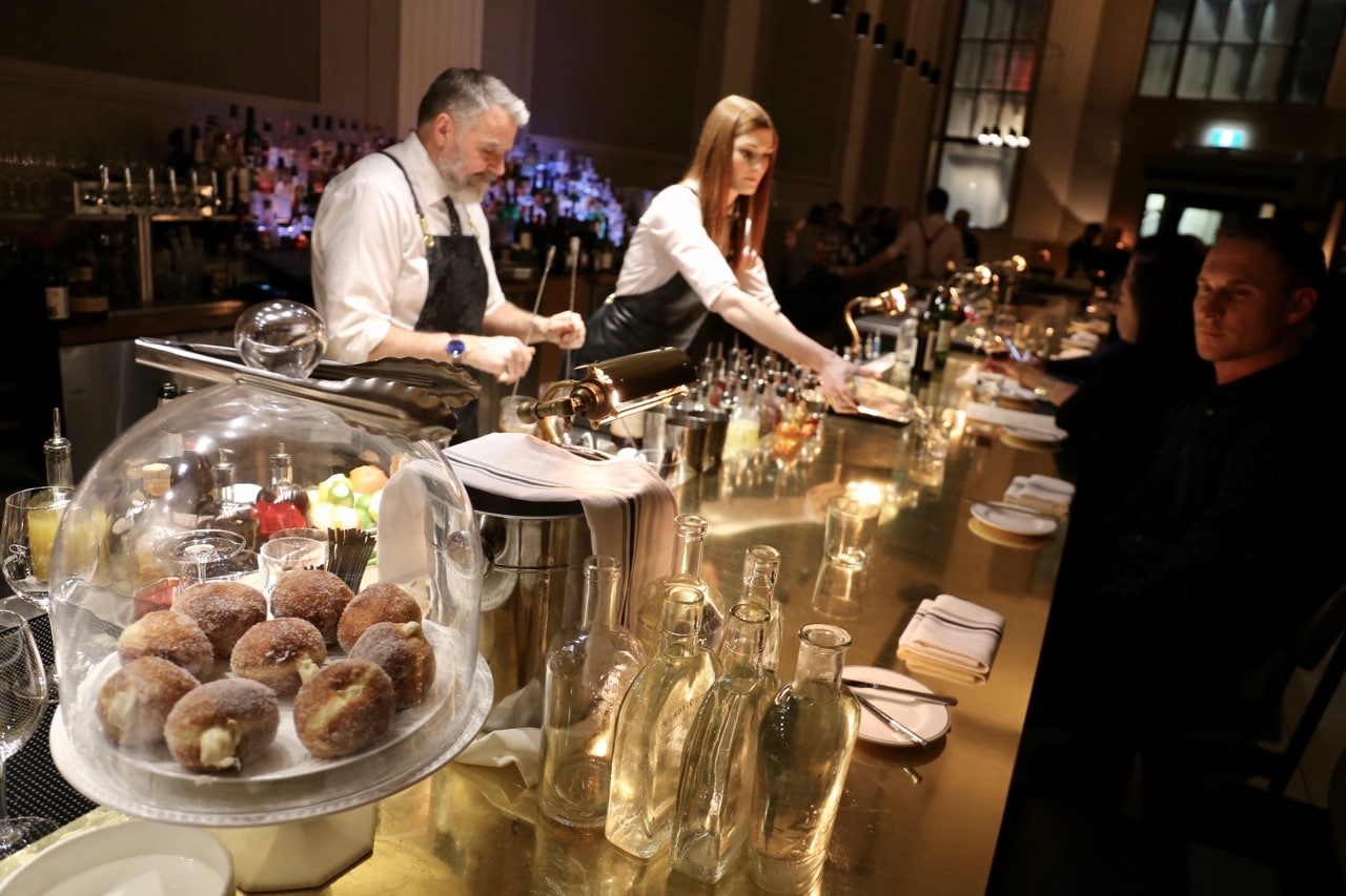 The bar at Riviera Restaurant Ottawa.