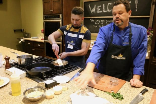 A Gay Cooking Class in Savannah at Chef Darin's Kitchen Table