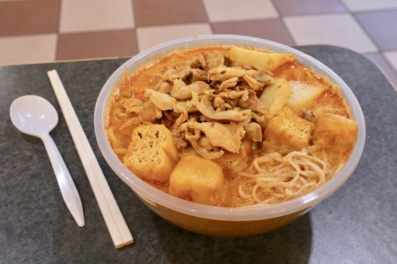 Spicy laksa soup at Malay Thai in First Markham Place.