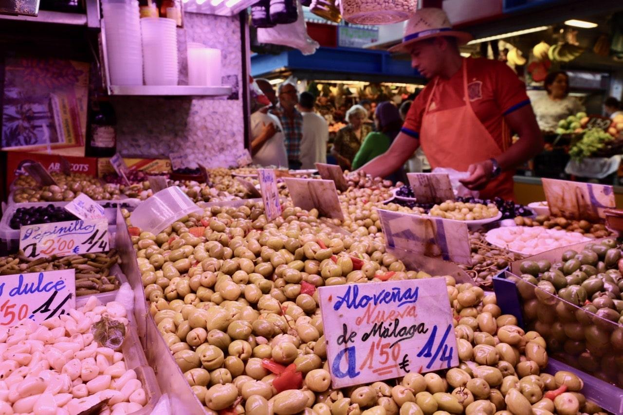 Take a tour of Malaga's food market.