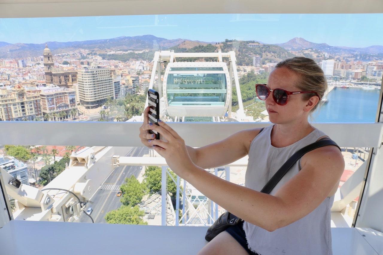 Enjoy beautiful views of the city on Noria Mirador Princess ferris wheel.