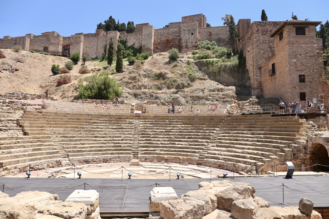 Enjoy a hike to the top of Malaga's Roman Theatre.