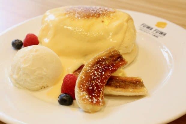 Creme Brulee Pancake at Fuwa Fuwa in Toronto.