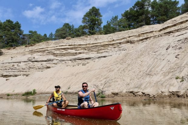 Wasaga Beach Camping Attractions: enjoy a canoe paddle on the Nottawasaga River.