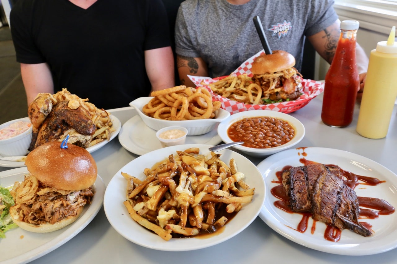 Wasaga Beach Camping Attractions: get your BBQ fix at Maple Diner.