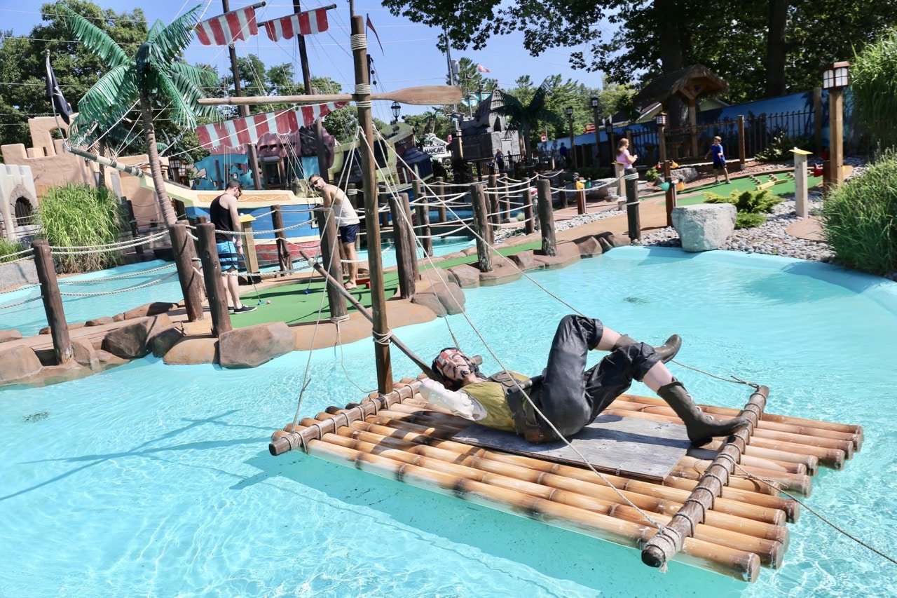 Wasaga Beach Camping Attractions: the region's best mini golf course.