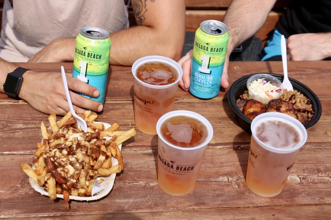 Wasaga Beach Camping Attractions: street food and local craft beer.