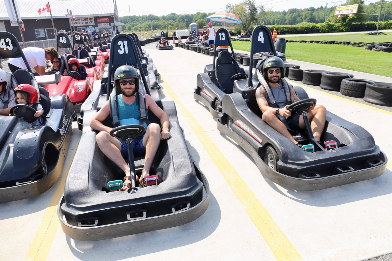 Canadian Road Trip Must-Do: Go-Karting in Wasaga Beach.