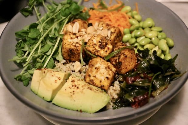 Rosalinda Toronto's Crispy Tofu and Rice Bowl