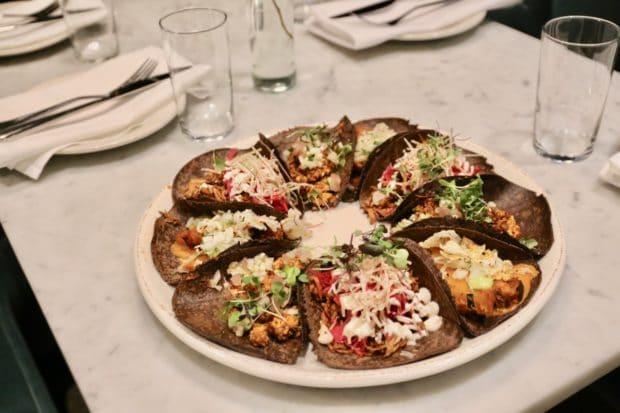 Rosalinda Toronto's Vegan Taco Platter