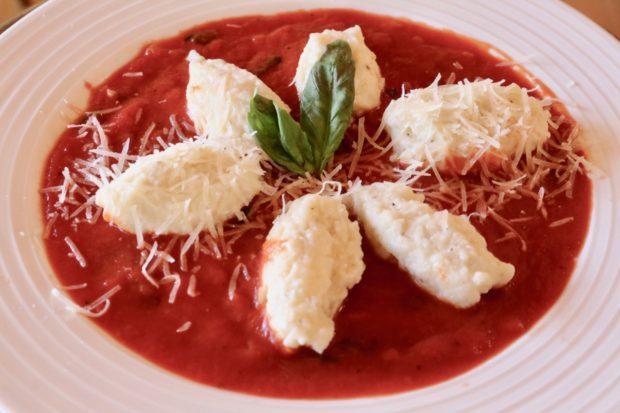 Italian Dumplings and tomato sugo.