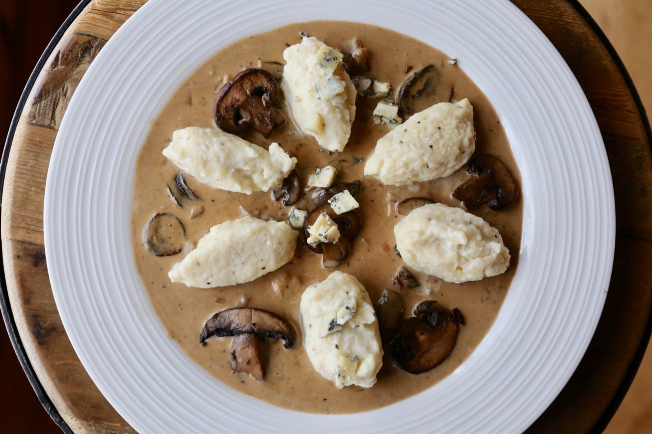 Gorgonzola Mushroom Cream with Italian Dumplings