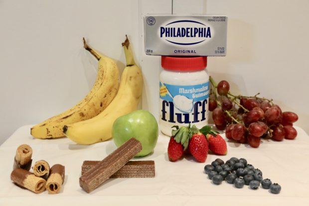 Ingredients for Marshmallow Fluff Fruit Dip