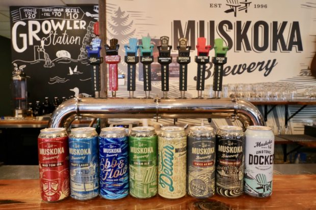 Muskoka Brewery's line of craft beer and gin.