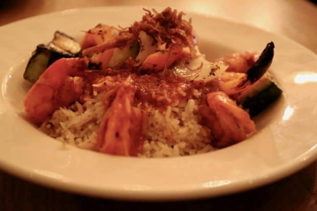 Tabule Toronto's sizzling garlic shrimp.