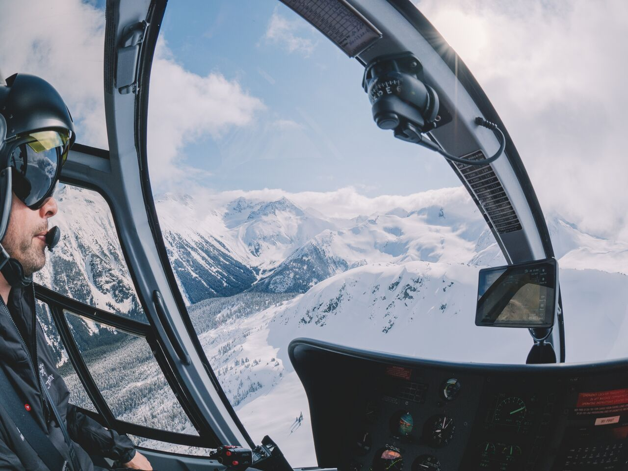 Photographer Kirsten Alana enjoys a helicopter tour over Whistler.