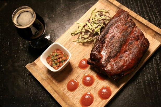 Pork ribs at Bootleg Smokehouse Toronto.