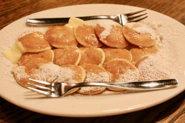 Borrel Restaurant's Dutch Poffertjes pancakes.