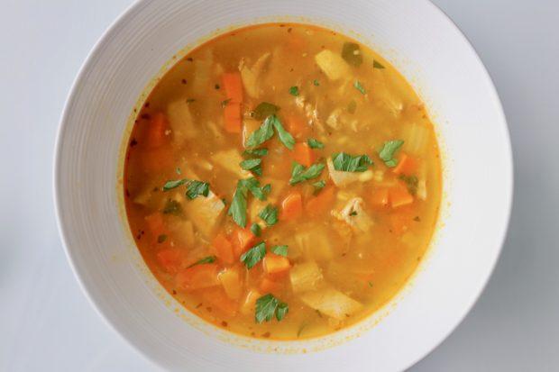 Bowl of Turkey Barley Soup