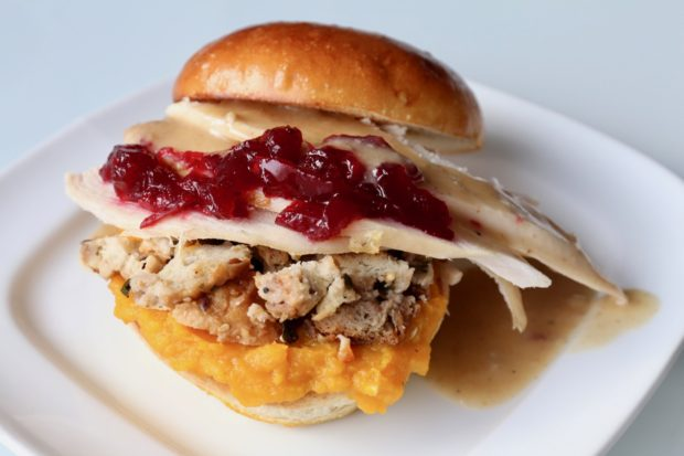How To Make a Christmas and Thanksgiving Turkey Cranberry Sandwich